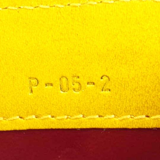 Céline CELINE Logo Bifold Wallet Purse Embossing Leather Yellow Italy Image 8