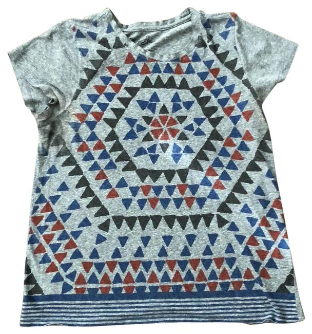 Preload https://img-static.tradesy.com/item/23627186/lucky-brand-gray-with-charcoal-red-and-royal-blue-modern-tee-shirt-size-12-l-0-1-650-650.jpg