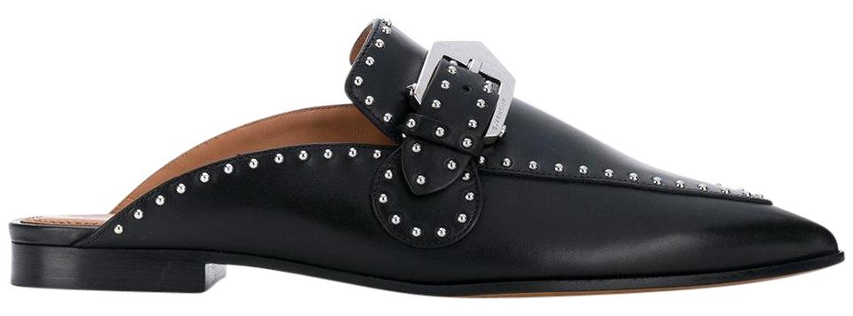 Givenchy Mules/Slides Black Elegant Studded Leather Mules/Slides Givenchy 58bb04