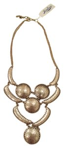 Lucky Brand 60% OFF! BRAND NEW Lucky Brand Gold Hammered Bib Necklace