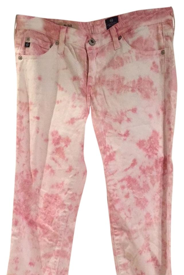 b974f98a AG Adriano Goldschmied Tie Dye Pink Pants Size 6 (S, 28) - Tradesy