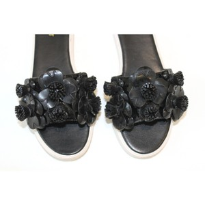 Nine West New With Tags Summer Vacation Designer Rubber Soles Black Sandals