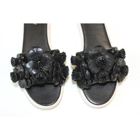 Nine West New With Tags Summer Vacation Designer Rubber Soles Black Sandals Image 2