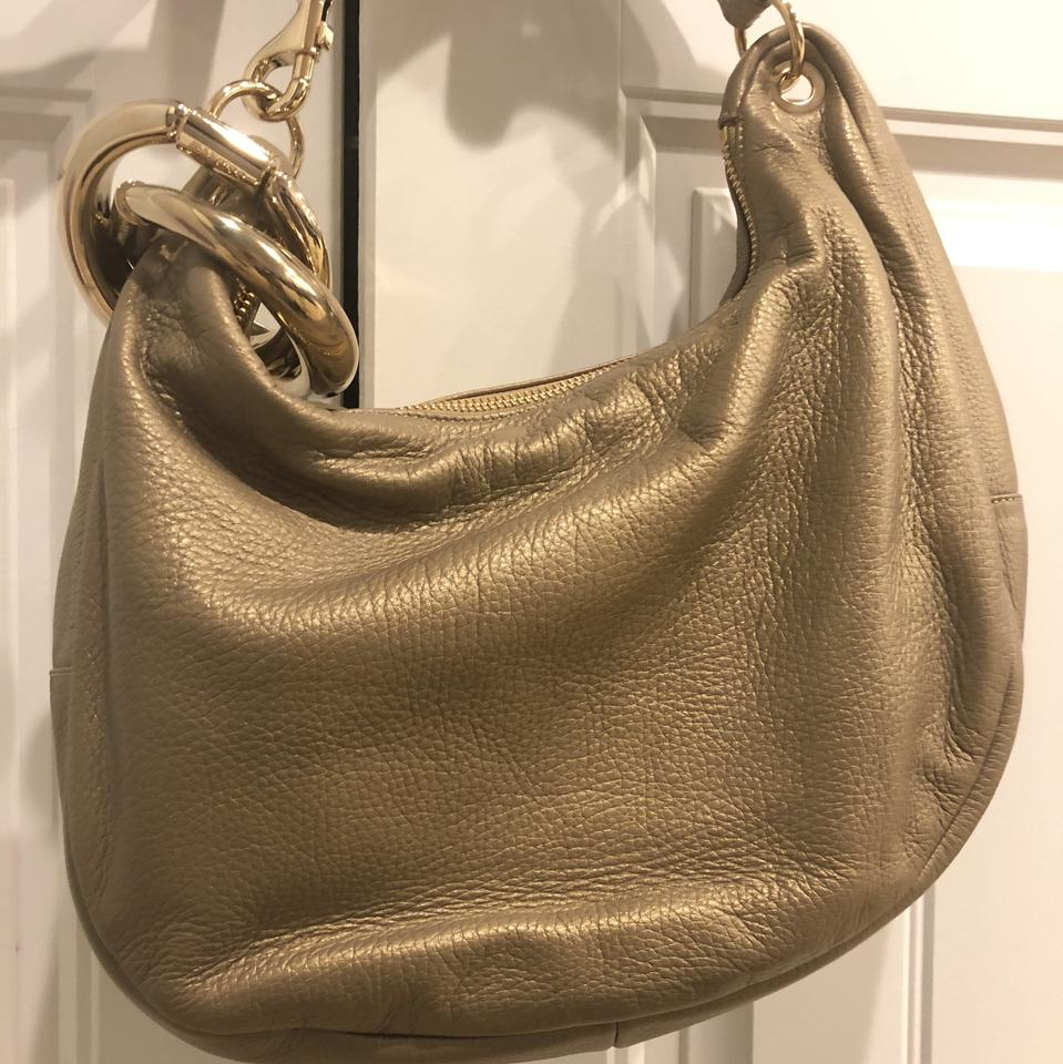 Leather Hobo Shoulder Gold Jimmy Choo Bag Solar wIq7vT