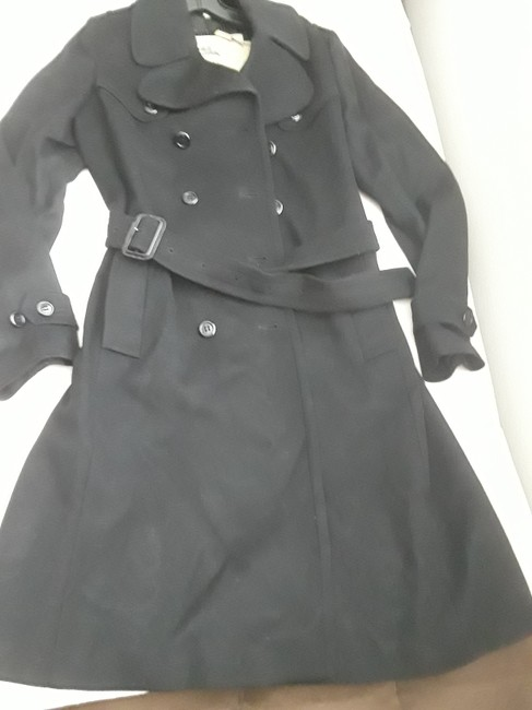 Burberry London Belted Cashmere Trench Coat Image 1