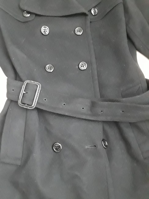 Burberry London Belted Cashmere Trench Coat Image 3