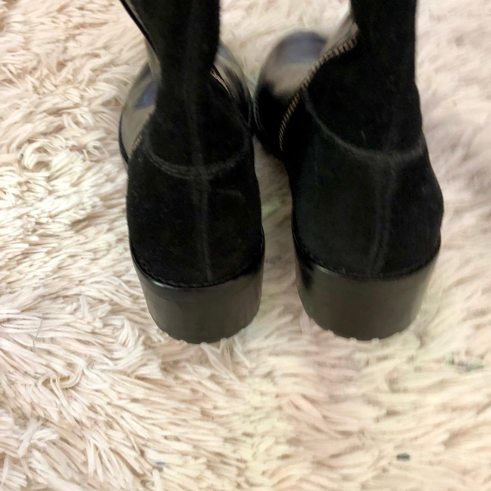 c03531127606 MICHAEL Michael Kors Black Leather Suede Equestrian Over The Knee ...