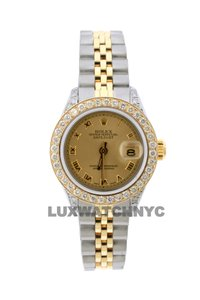 Rolex 1.8CT 26MM ROLEX DATEJUST GOLD SS WITH BOX & APPRAISAL