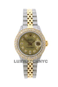 Rolex 1,8CT 26MM LADIES DATEJUST GOLD S/S WITH BOX & APPRAISAL