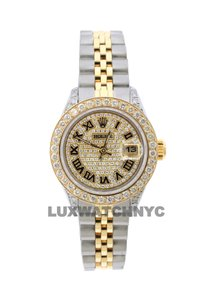 Rolex 2CT 26MM LADIES DATEJUST GOLD S/S WITH BOX & APPRAISAL