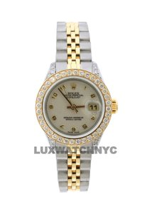 Rolex 1.8CT 26MM LADIES DATEJUST GOLD S/S WITH BOX & APPRAISAL