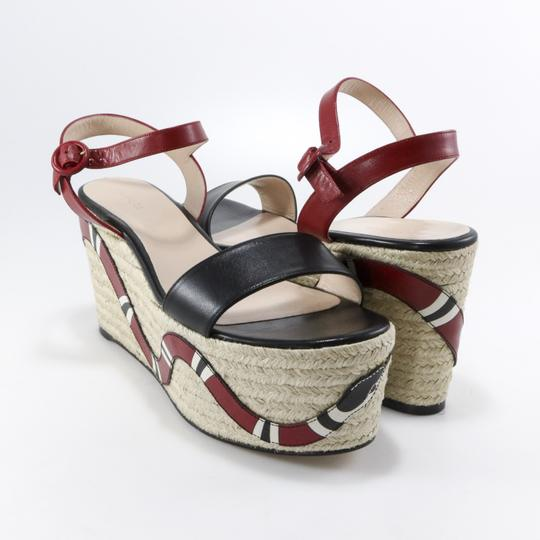 Gucci Espadrilles Snake Snake Red, Black, white Platforms Image 2