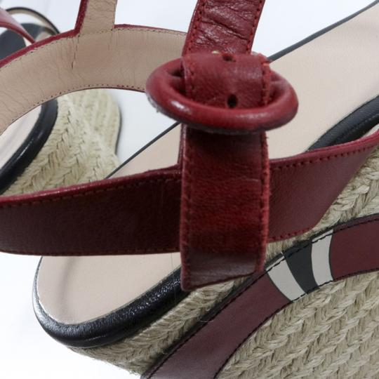Gucci Espadrilles Snake Snake Red, Black, white Platforms Image 4