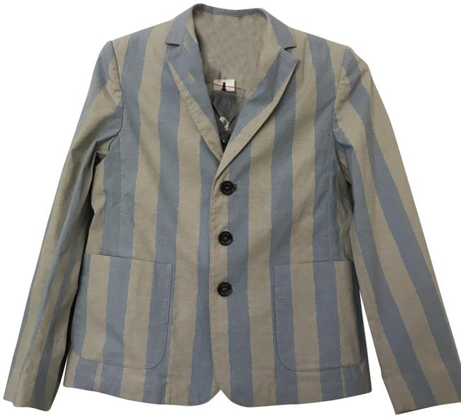 Preload https://img-static.tradesy.com/item/23627916/fendi-light-blue-and-light-grey-strips-classic-jacket-size-petite-4-s-0-1-650-650.jpg