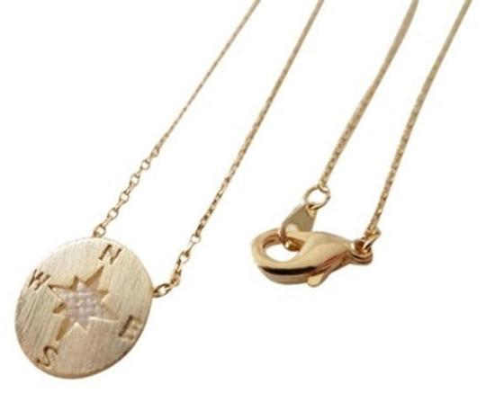 Other New circle disk necklace, compass necklace in gold. Image 1