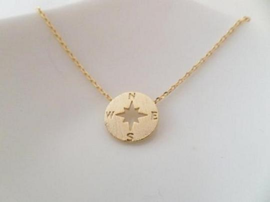 Other New circle disk necklace, compass necklace in gold. Image 2