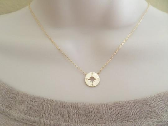 Other New circle disk necklace, compass necklace in gold. Image 4