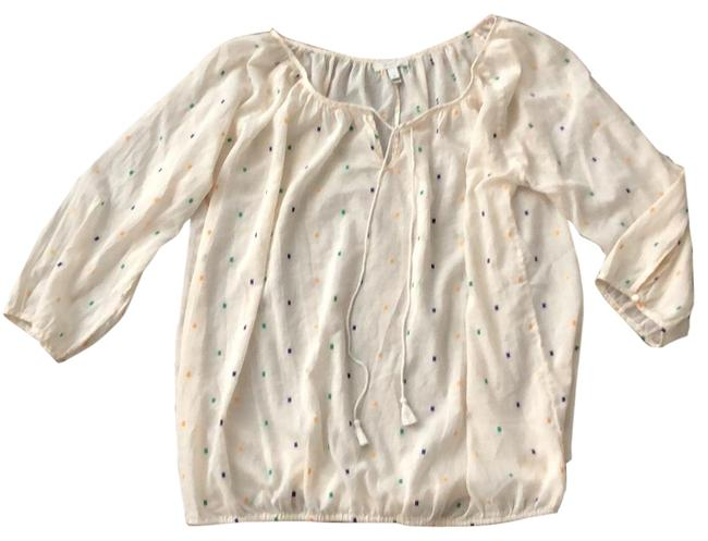 Preload https://img-static.tradesy.com/item/23627944/jcrew-ivory-with-purple-green-and-gold-elastic-waistband-tunic-size-16-xl-plus-0x-0-1-650-650.jpg