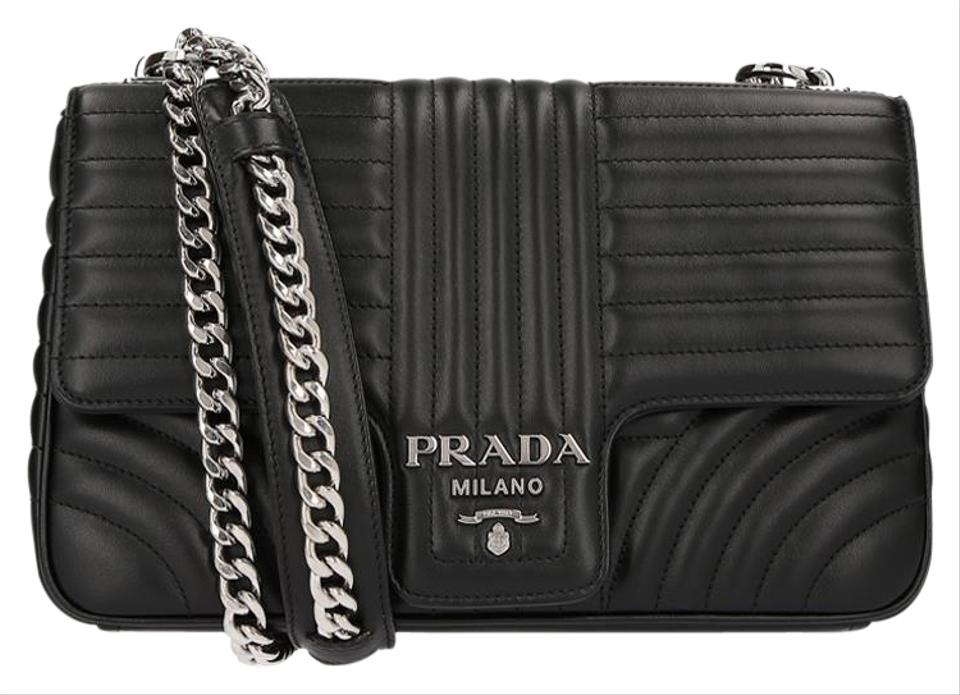 7bf11b7fecc6 Prada Large Diagramme Black Leather Shoulder Bag - Tradesy