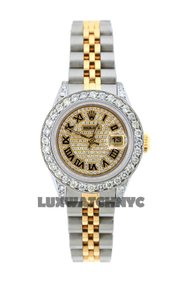 Rolex 2.2ct 26mm Ladies Datejust Gold S/S with Box & Appraisal Watch