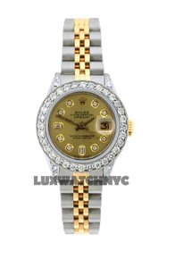 Rolex 1.8ct 26mm Ladies Datejust Gold S/S with Box & Appraisal Watch