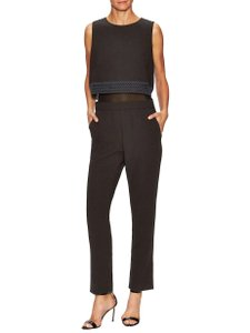 Maje Jumpsuit with layered top