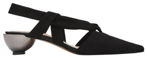 Zara Heels Sandals Chanel Suede Geometric Heel Black Pumps