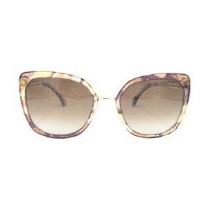 Chanel Brown Gold Butterfly Square Polarized 4209 463/S9 Sunglasses