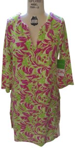Lilly Pulitzer Lilly Pulitzer Terry Cattarina Cover-up Hibiscus Pink