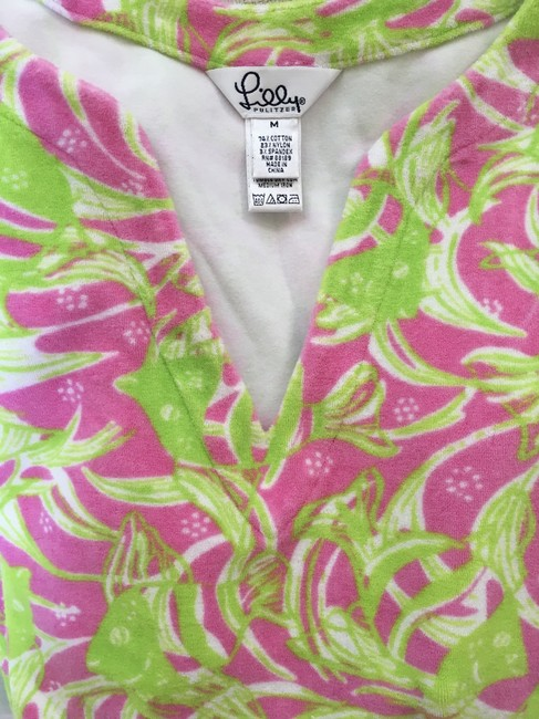Lilly Pulitzer Lilly Pulitzer Terry Cattarina Cover-up Hibiscus Pink Image 10