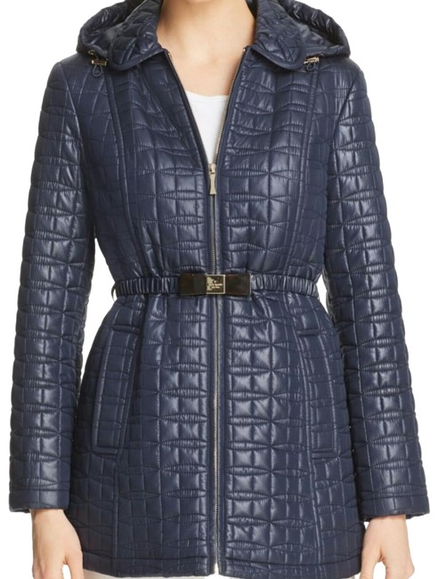 Item - Navy Bow Quilted Coat Size 10 (M)