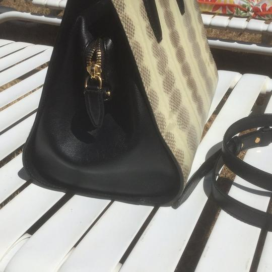 Alexander Wang Satchel in Black/Snakeskin Image 1