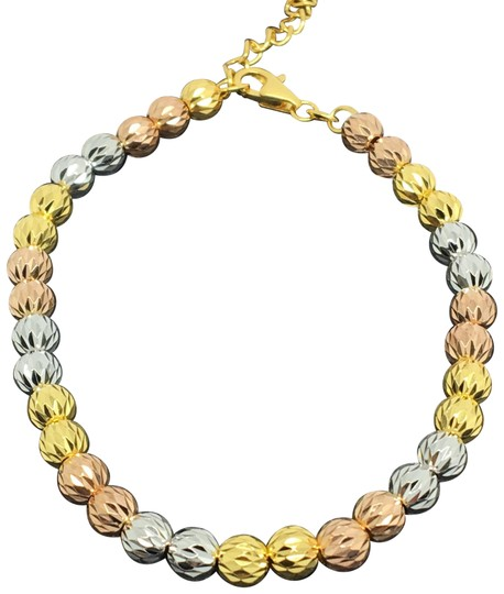 Preload https://img-static.tradesy.com/item/23628559/18k-tri-color-gold-diamond-cut-ball-bracelet-0-1-540-540.jpg