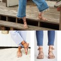 Free People Oxblood (dusty pink) Sandals Image 1