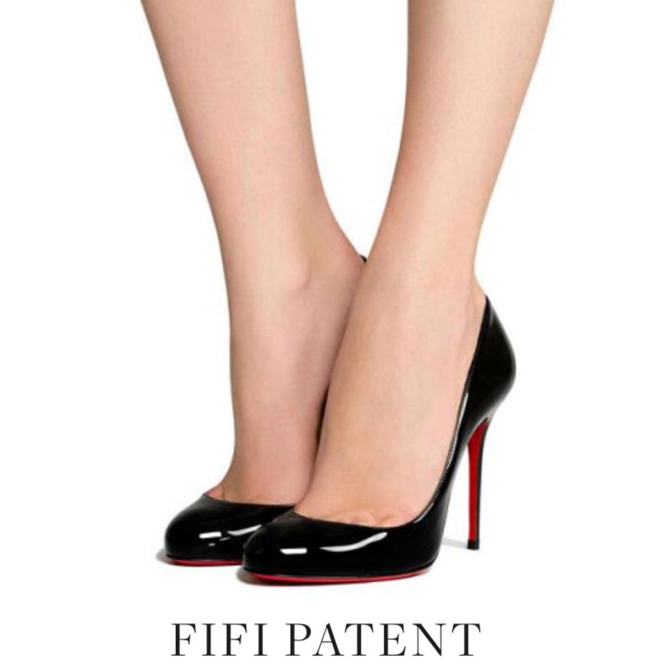 af8684c10db5 Christian Louboutin Black Patent Leather Fifille Pumps Size EU 38.5 ...