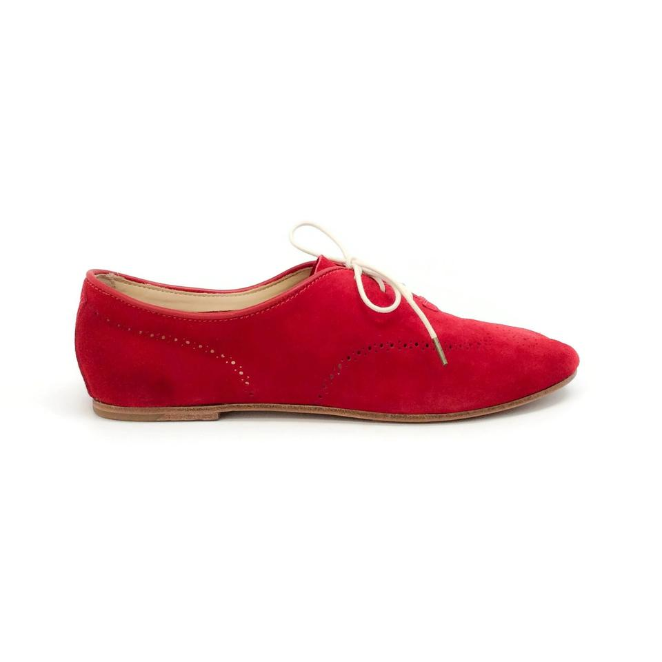 Flats amp; Suede Oxford Red Bone Rag Perforated x6RqnpwPfw