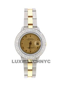 Rolex 2ct 26mm Datejust Gold S/S with Box & Appraisal Watch