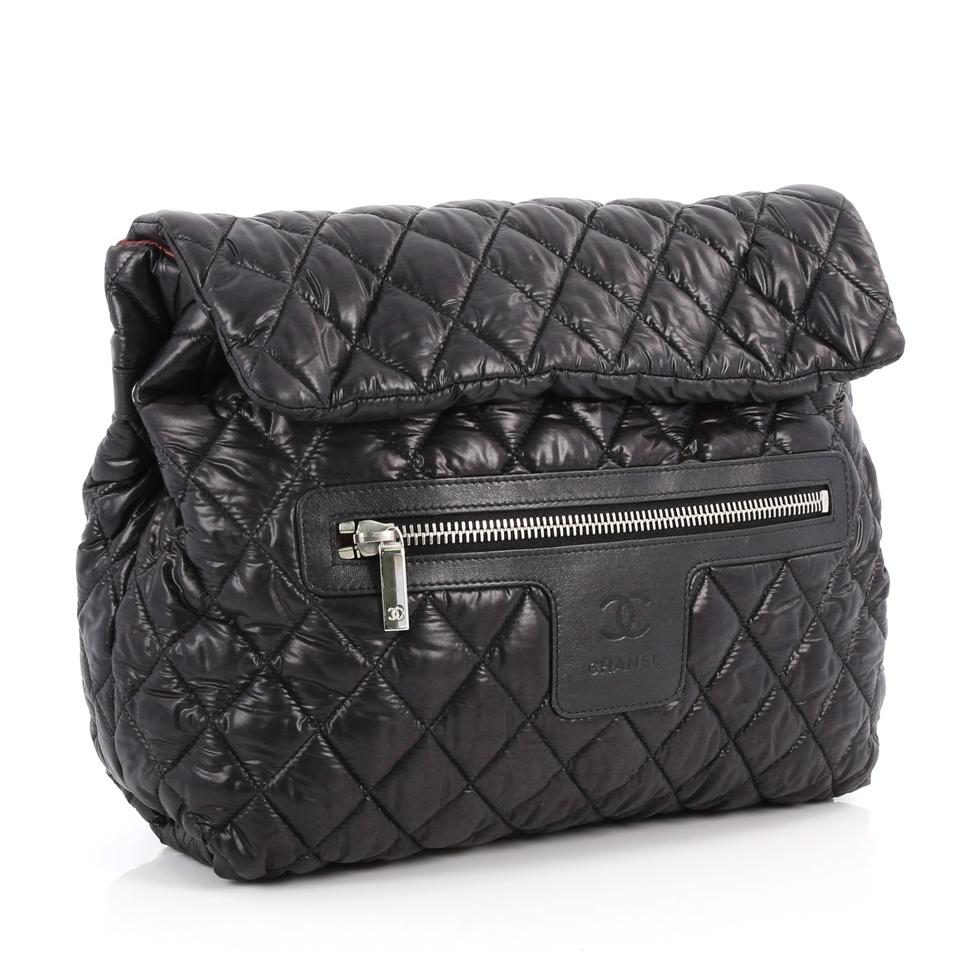 c7210c699ac732 Chanel Backpack Cocoon Coco Flap Quilted Black Nylon Shoulder Bag - Tradesy
