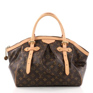 Louis Vuitton Tivoli Canvas Satchel in brown