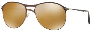 Persol Persol Unisex Sunglasses PO7649-S 1072/W4 Brown Frame Brown/Gold Lens