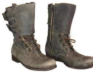 Matisse Distress Lace Up Boot distressed green Boots