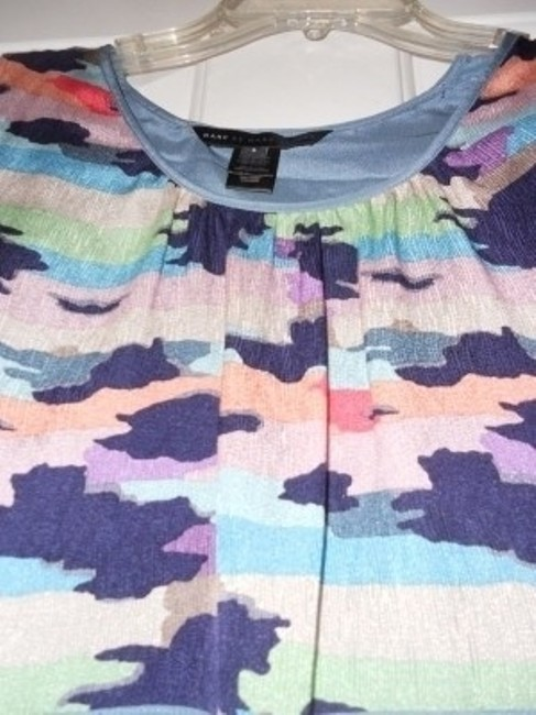 Marc by Marc Jacobs Top Blue with prints