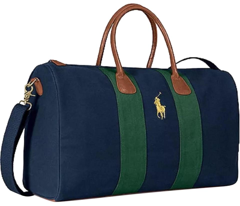 f1468a31edeb Polo Ralph Lauren Geniune Canvas Zipper Adjustable Strap Navy Travel Bag  Image 0 ...