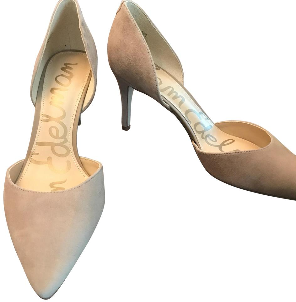 8fbcfdfb9 Sam Edelman Oatmeal Suede Telsa D'orsay Pointed Toe Stilleto Pumps ...