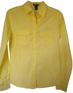 Zenana Outfitter Long Sleeve Button Front Tab Sleeves Button Down Shirt Yellow