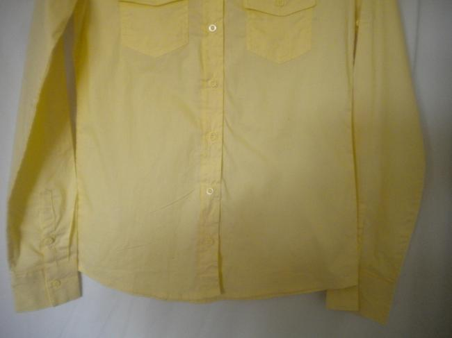 Zenana Outfitter Long Sleeve Button Front Tab Sleeves Button Down Shirt Yellow Image 2