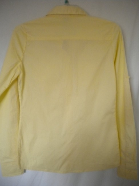 Zenana Outfitter Long Sleeve Button Front Tab Sleeves Button Down Shirt Yellow Image 3