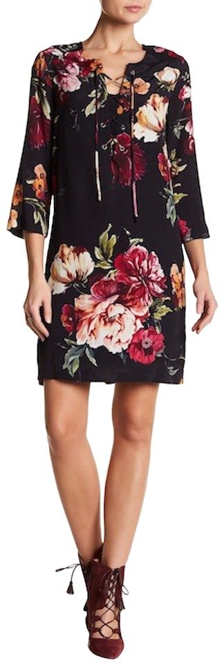 42400fd24df New Floral Lace-up Casual Dress