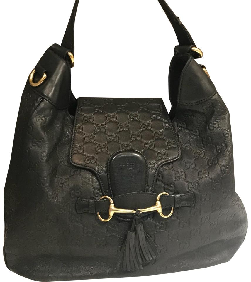 828195084a2 Gucci Emily Guccissima Black Leather Hobo Bag - Tradesy