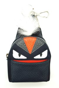 Fendi RARE Mini Monster Backpack Keychain key holder change